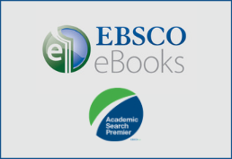 Ebsco in Bold all capital letters in Blue with circle logo