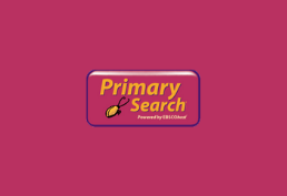 primary search in yellow on pink background