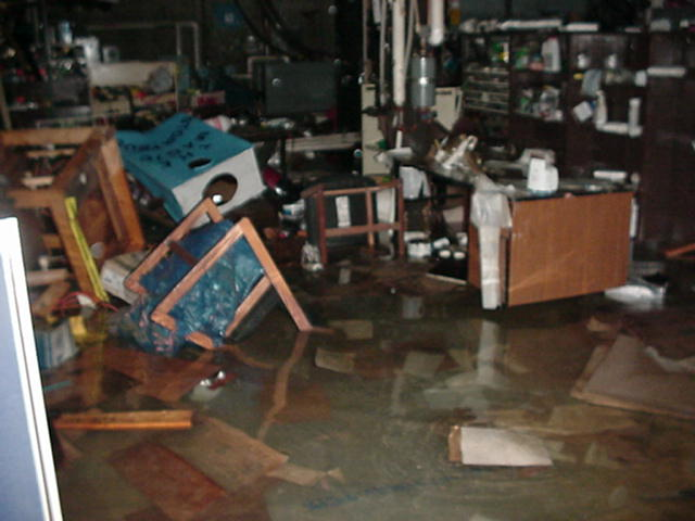 photo of flooded basement