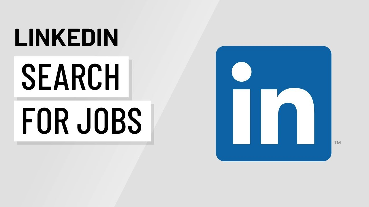 linkedin job search in blue with white background
